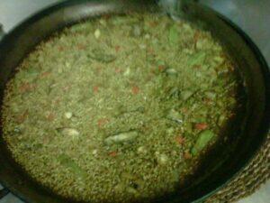Restaurante arroceria Valenciano. Arroz seco de puntilla con verduras